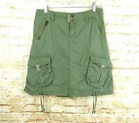 American Rag Cargo Utility A-line Skirt Olive Army Green Military Womens Size 5