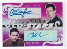 2020 Leaf Metal Pop Century Dual Autographs Charlie Sheen John Cusack 4/6 Auto