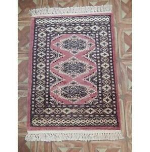 2x3 Authentic Hand Knotted Jaldar Bokhara Multicolor Rug B-77819