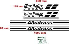 Pride Albatross Boat Vinyl cut  decals set   FOUR DECALS (4)  sizes  on pics