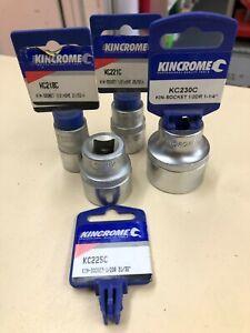 """4 x New Kincrome Sockets 21/32. 25/32. 31/32. 1-1/4. 1/2"""" Sq Drive Socket"""