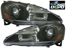 05-06 Acura RSX DC5 Black Projector Headlight DEPO