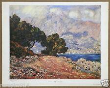 Claude Monet Cape Martin near Menton Vintage Original Lithograph Print 1960s