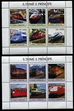 St.Thomas and Prince Islands, MNH, 2003 Raiway, Train, Locomotives. x6703