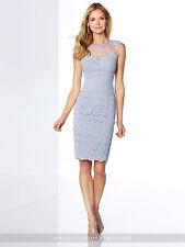NEW Mon Cheri 117820 LIGHT PERIWINKLE Lace COCKTAIL DRESS Size 6 Social Occasion