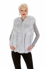 Womens Real Genuine Blue Fox Fur Vest Gilet Jacket Coat - Soft Directions