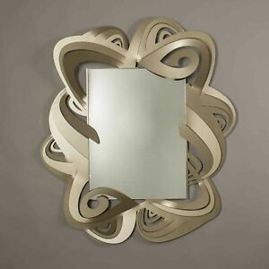 Arti e Mestieri Specchio da parete Penelope Bronzo Metallo
