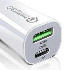 ESR Official In Car Charger PD Quick Charge USB Type C 45W 3A 2 Port White UK