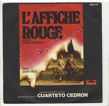 French SP OST L'affiche rouge Cuarteto Cedron Pierre Clémenti Anicée Alvina