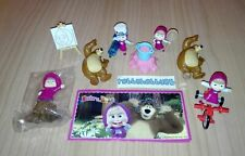 MASHA AND THE BEAR (MAXI) COMPLETE SET WITH ALL PAPERS KINDER SURPRISE 2018