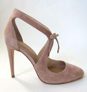ROBERT ROBERT Raquel Rose Quartz Suede Hi-Heel Shoes, Size EU40