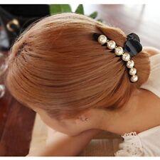 Mujer Horquilla De Pelo Clip Perlas Cristal mariposa Pinza Cabello Hkjhk