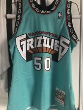 Men's Vancouver Grizzlies Bryant Reeves Mitchell & Ness 1995-96 HWC Teal Jersey