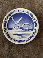 1988 Royal Copenhagen Kronborg Hamlet's Castle Fajance 3.25� Plate
