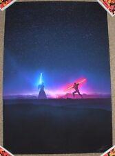 STAR WARS Art Print poster OLD ENEMIES Darth Maul Obi Wan Kenobi Marko Manev