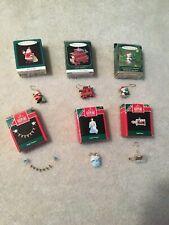 Hallmark Keepsake Miniature Christmas Ornaments Lot of 6 1990s