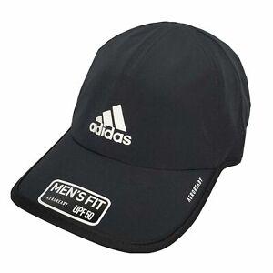ADIDAS Aeroready Men's Hat Cap OS Black UPF50 New Athletic Tennis Running Golf