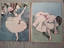 "Vintage ballerina prints 6.5"" x 5""  Lot of 2"