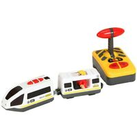Remote Control Electric Train Compatible with Wooden Train Track Toy U9D5 H1A