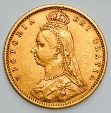 More details for 1891 queen victoria jubilee head gold half sovereign (1887-1893 type)
