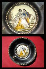 Pittura su Vetro - Hinterglasbild - Dipinto - Scena Galante - miniatura