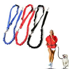 Hands Free Dog Running Reflective Leash Pet Walking Hiking Waist Belt Adjust