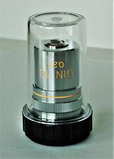 objectif, objective, microscope, EDMUND Achromat 10   pour Nikon, Olympus, Zeiss