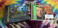 Lot Of 2 Action PS1 Games - Playstation 1 - James Bond, Syphon Filter 2