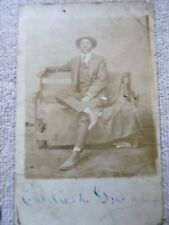 RARE Antique Photograph of ID'd African American Man, c1900, Real Postcard Photo