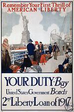 "USA Victory Girls United War Work Rowing, 1918 World War 1 Poster 10x8"" Poster"