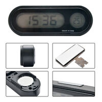 LCD Digital Car Electronic LED 12V Time Clock Thermometer With Backlight SY