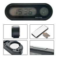 12V LCD Digital LED Car Electronic Time Clock Thermometer With Backlight SY