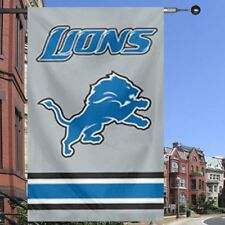 Detroit Lions Two Sided Embroidered Nylon House Flag Man Cave must Wife?