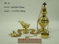 Brass Censer Incense Burner for Church Chapel Holy Mass Altar M5-2