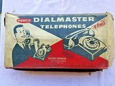 Vintage 1960s  Remco Dialmaster Red Toy Plastic Telephones Original Box