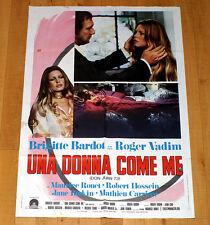 UNA DONNA COME ME manifesto poster affiche Brigitte Bardot Vadim Don Juan 73