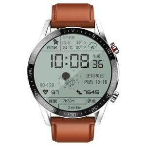 Smartwatch Waterproof Android ECG Iphone IOS Huawei Xiaomi Leather Men