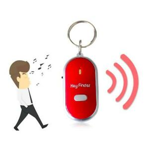 Anti Lost LED Key Finder Locator Keychain Whistle Sound Control Keyring Tracker