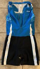 New listing ZOOT Womens XL  Tri Suit Racesuit Triathlon Skinsuit Blue + Bra EUC