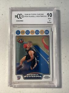 2008-09 Topps Chrome #184 Russell Westbrook Thunder RC Rookie PSA 10 BCCG