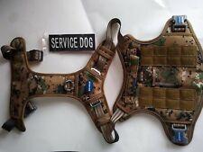 Auroth Tactical Dog Harness | No Pull Adjust. Pet Harness | L | Woodland Camo