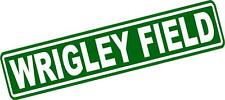 "Wrigley Field Street Sign Vinyl Decal Sticker 14"" Wrigley Field Lot of 2"