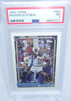 1992 Topps Shaquille Oneal Rookie Card #362 PSA Graded NM 7 MAGIC HOT CARD