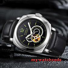 44mm parnis black dial Sapphire Glass miyota automatic military mens Watch