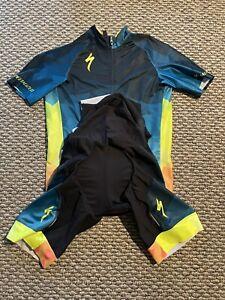 Specialized Jersey & Bibs SL Pro Blue Yellow Kit Great Shape!