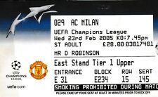 MANCHESTER UNITED V AC MILAN 23 FEBRUARY 2006 CHAMPIONS LEAGUE TICKET