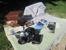 """Canon FTb QL 35mm SLR Film Camera w/ FD 50mm F1.8 S.C.from Japan"""" BAG FLASH"""