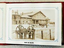 Recueil Album 10 Photo Albuminé 6x9cm - Souvenir de Calais - Lamarre 1870