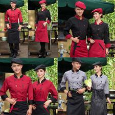 Chef Jacket Kitchen Long Sleeve Chef Coat Restaurant Working Uniforms Unisex