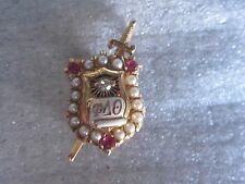 Vintage 14K Solid Gold Phi Delta Theta Fraternity Pin Badge